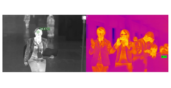 Airport Fixed Thermal Imaging Camera For Fever Screening And Detection 0