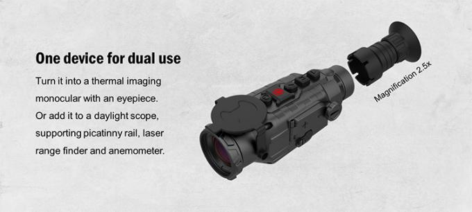 Versatile Thermal Imaging Gun Scope , IP67 Military Thermal Imaging Scope