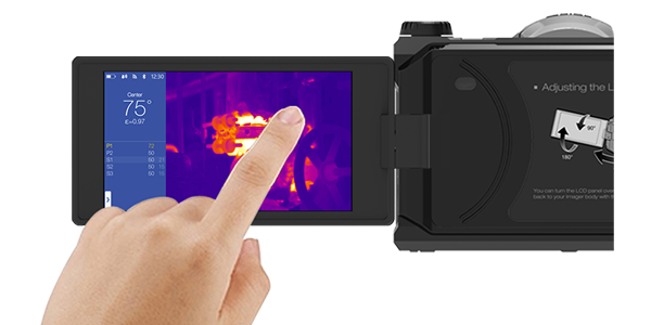 Rotatable Display Handheld Thermal Imaging Camera With WiFi Data Transfer