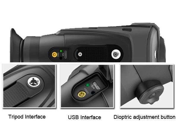 Lightweight Thermal Imaging Monocular , Micro USB Interface Small Thermal Scope