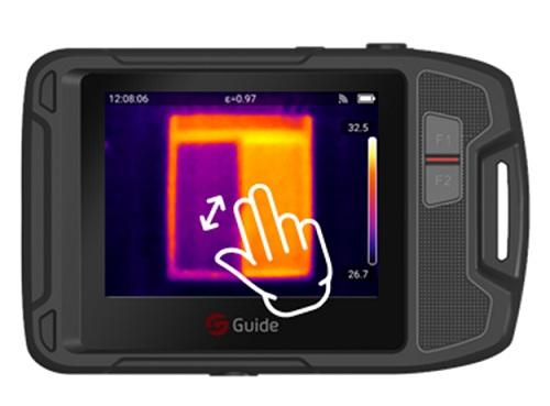 HVAC Inspection Industrial Thermal Imaging Camera , High Resolution Thermal Camera 0