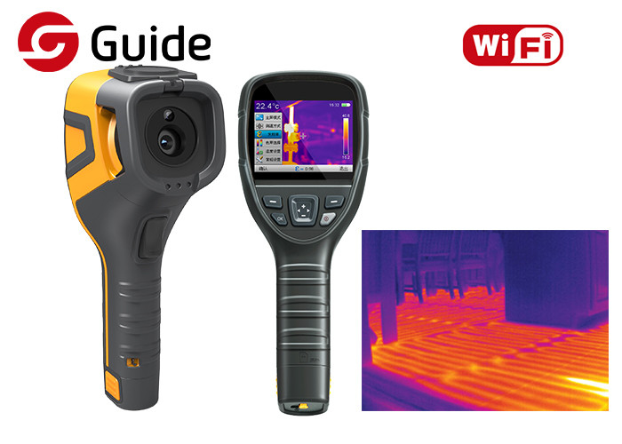 WIFI Connectivity Infrared Thermal Camera 320×240 17μM Guide For Industrial Testing