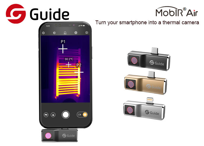 High Invisible Smartphone Thermal Camera For House Inspection -20℃-120℃ Temp Range