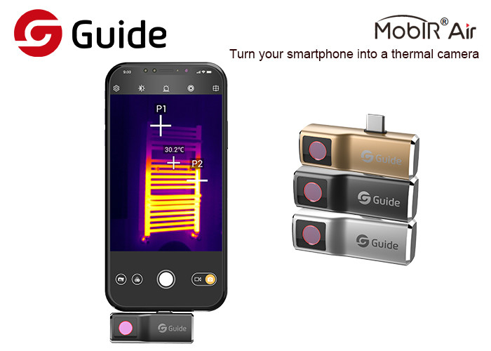 Safe Thermographic Imaging Camera , Compact Thermal Imager For Android Phone USB-C