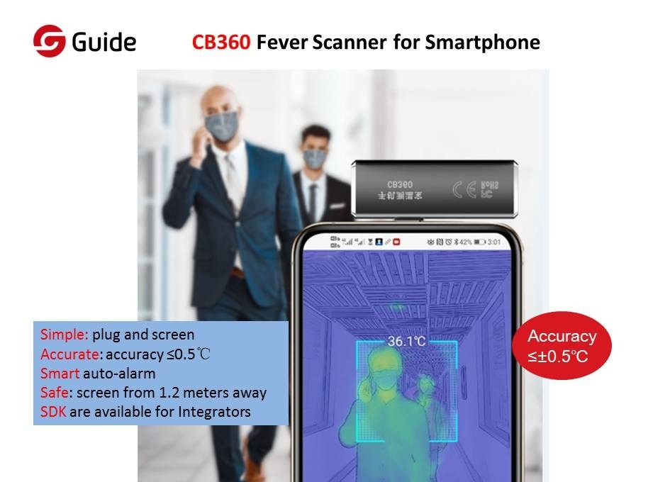 Non Contact Android SDK Infrared Thermal Imaging Camera